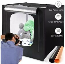 Amzdeal Photography Light Box 32in Upgraded Photo Studio Professional Tent LED