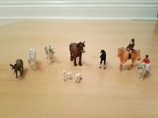 9 Vintage 1970's Britains Plastic Farm Animals