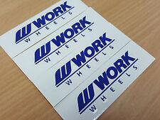 JDM New 4pc Sticker Decals 16-20 inch Rims Wheels Work Meister S1 2P 3P ~Blue