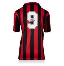 Marco van Basten atrás firmado AC Milan 1988 Home Jersey Camisa autógrafo
