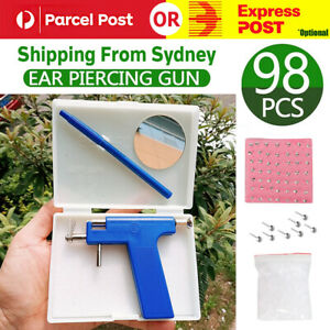 Professional Steel Ear Nose Navel Body Piercing Gun With 98pcs Studs Tool Kit