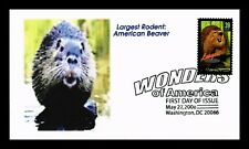 DR JIM STAMPS US BEAVER LARGEST RODENT WONDERS OF AMERICA UNSEALED FDC COVER
