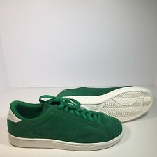 new concept 5614b 447a2 NIKE ZOOM BRUIN TENNIS CLASSIC CS SUEDE PINE GREEN IVORY WHITE 829351-300  Sz 11