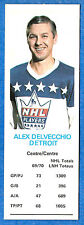 1970-71 Dad's Cookies ALEX DELVECCHIO - Detroit Red Wings