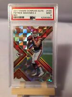 PATRICK MAHOMES Chiefs 2017 Panini Donruss Elite Red Rookie RC #155 46/149 PSA 9
