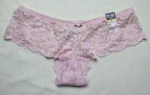 Lowrise Lacy Pink Panties by Delicates - Size Large / 7