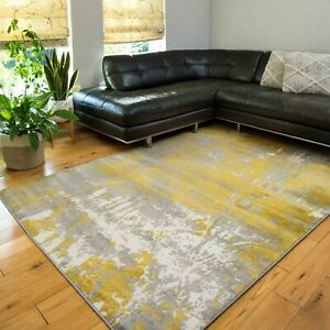 Yellow Grey Rugs for Bedroom   Extra Large Dining Room Area Rugs   Hallway Rugs