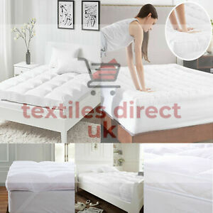 """4"""" INCH SUPERSOFT THICK MICROFIBER MATTRESS TOPPER/ MATRESS PROTECTERS ALL SIZES"""