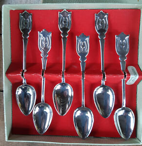 Rodd Chippendale tea spoons in original box set of 6