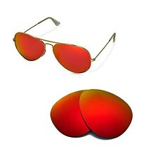 New WL Polarized Fire Red Lenses For Ray-Ban Aviator Large Metal RB3025 62mm