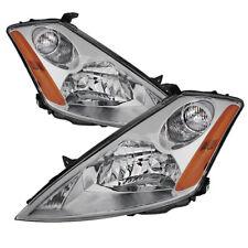 Fit Nissan 03-07 Murano Chrome Housing Replacement Headlights Pair Set SE SL S