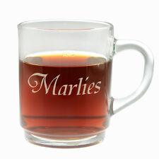 Teeglas mit Namen Kaffeeglas Glühweinglas Glastasse Glas mit Henkel Geschenkidee