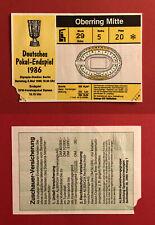 Fußball Eintrittskarte Ticket Deutsches Pokal Endspiel 1986 FC Bayern  ( 60189