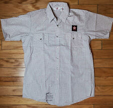 Vintage 80S Texaco Unitog Deadstock Mechanic American Work Shirt Large Brand New