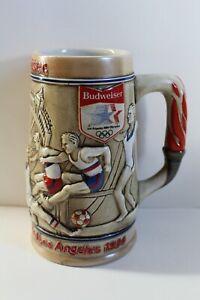 Vintage 1984 Olympic Games Los Angels Budweiser Collectible Beer Stein Mug