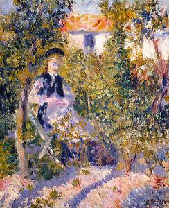 Renoir 1876, Nini in the Garden, Fade Resistant HD Art Print or Canvas