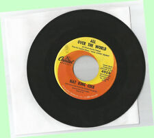 45 RPM - NAT KING COLE All Over The World/Nothing Goes Up Without Coming Down G+
