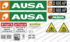 AUSA D600 AP DUMPER DECALS STICKER SET