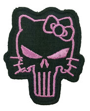 Hello Kitty Punisher  2.25 inch TACTICAL Morale HOOK LOOP PATCH