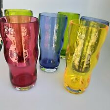 6 PC Acrylic Vintage Drinking Glasses Plastic Cup Extra Large Everyday