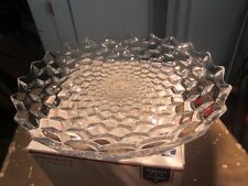"""1915 - 1982  AMERICAN #2056 by Fostoria CRYSTAL 16 3/8"""" W Footed Fruit Bowl"""