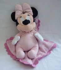 Disneyland Paris Baby Minnie Mouse Pink blanket Plush Soft toy butterfly