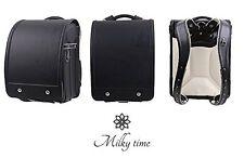 New Milky Time Randoseru Girls Model Black Solid color Simple design JAPAN F/S