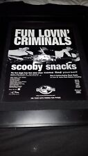 Fun Lovin' Criminals Scooby Snacks Rare Original Radio Promo Poster Ad Framed #1