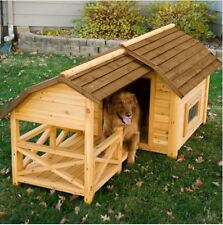 Dog House for Large Dogs Kennel Wooden Barn XL Pet Puppy Raised Floor Shelter