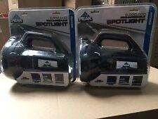 Lot Of 2 NEW Peak PKC05MB 5-Million Candle Power Rechargeable Spotlight