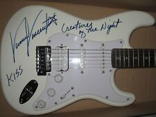 KISS SIGNED GUITAR VINNIE VINCENT AUTOGRAPH CREATURES OF THE NIGHT ACE PROOF