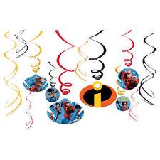Disney Incredibles 2 -  12pc Swirl Decoration Kit Birthday Party Supplies