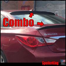 Fits: Hyundai Sonata 2011-2014 Rear Roof Spoiler & Trunk Wing Combo (380R/301G)