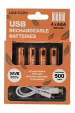 Mountain Warehouse Uni  USB Rechargable Batteries 4 X Aaa In One - One Size