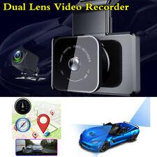 G-sensor Automóvil HD Lente Dual DVR Cámara Grabadora De Aparcamiento Monitor Dash + Cámara De Visión Trasera