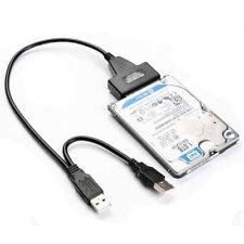 Lecteur de disque dur 7 + 15 broches SATA vers USB 2.0 Câble Adaptateur pour