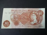 1963 TEN SHILLING NOTE J.Q.HOLLOM, EXTREMELY FINE CONDITION DUGGLEBY REF: B294.