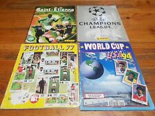 LOT4 ALBUMS(3 Panini)Asse2000/2001,Champion League 1999,Football77,WorldCupUSA94
