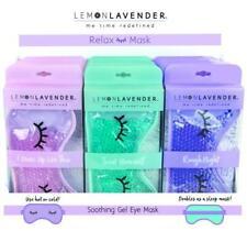 Women's Lemon Lavender Warm Or Cold Relaxing Soothing Gel Eye Mask + Sleep Mask