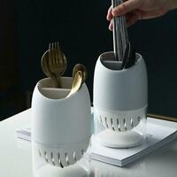 Chopsticks Spoon Tube Fork Drainer Storage Cutlery Holder Rack Drain S0U4