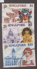 SINGAPORE #580, #581 & #583 USED SET