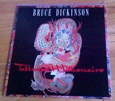 """Bruce Dickinson - Tattooed Millionaire 12"""" Vinyl & Poster Sleeve Iron Maiden"""