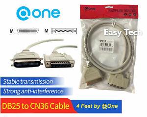 4ft DB25 to CN36 Parallel Cable M/M 28AWG for PC Dot-Matrix Laser Printer IBM