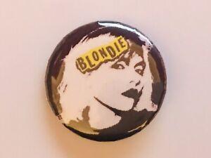 """2 x BLONDIE DEBBIE HARRY BUTTON BADGES 25MM 1"""" MODEL PUNK BAND VINTAGE RETRO"""