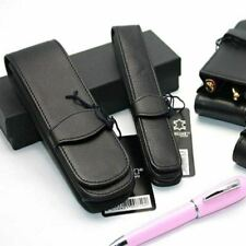 Online Leather Pen Case - Black - Single / Double / Triple