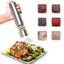 Large Stainless Steel Electric Salt Pepper Spice Mill Grinder Shaker Kitchen