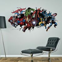 SUPERHERO BATMAN HULK SPIDERMAN IRONMAN DEADPOOL MARVEL WALL STICKER decal art