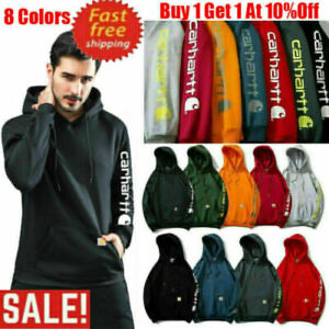 Hoodies Mens Womens Carhartt Printing Hooded Sweatshirt Loose Casual Long Sleeve