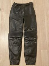 Alpinestars Leather Motorcycle Trousers - Women's UK10 US 6 EUR 42 - Elasticated
