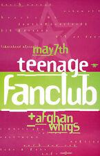 Teenage Fanclub + Afghan Whigs RARE LIVE 1992 CONCERT GIG POSTER Thomas Scott